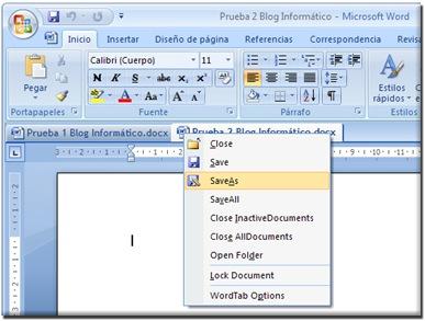 ms word tab